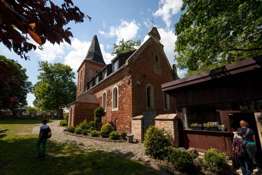 Muzeum Piśmiennictwa i Drukarstwa w Grębocinie w XIII wiecznym kościele pw. Św. Barbary